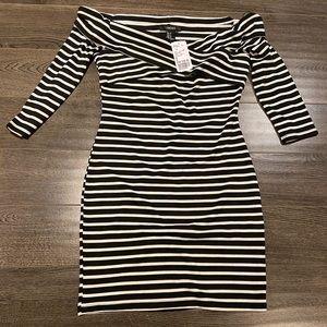 F21 Striped Bodycon Dress (Size M, BNWT)